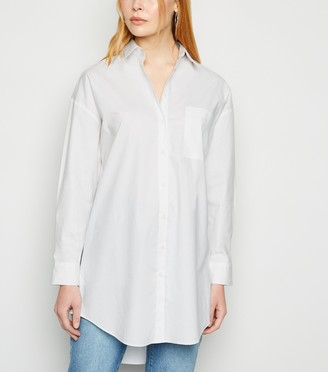 New Look Longline Poplin Shirt