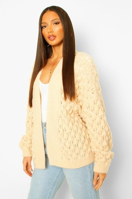 boohoo Tall Bubble Knit Chunky Cardigan