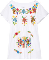 Sensi Studio - Embroidered Cotton Mini Dress - White