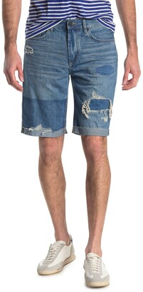 Blanknyc Denim Wooster Contrast Distressed Denim Shorts
