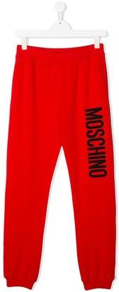 Moschino Kids logo jersey trousers