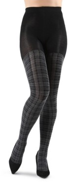 Me Moi Faded Plaid Sweater Women's Tights