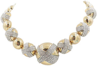 One Kings Lane Vintage Givenchy Pave Rhinestone Necklace - Carrie's Couture