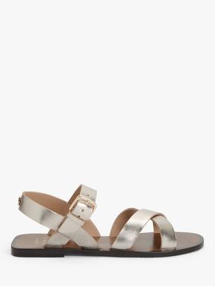John Lewis & Partners Leyla Leather Flat Sandals