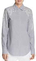 Rag & Bone Sahara Stripe Embroidered Shirt