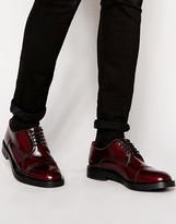 Base London Steam Leather Derby Shoes - Red