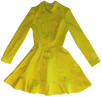 Christian Dior Yellow Cotton - elasthane Dress for Women