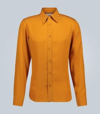 Gucci GG checked silk shirt
