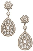 Nina Women's Filigree Teardrop Crystal Earrings