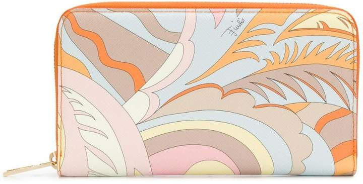 Emilio Pucci Orange Acapulco Zip Wallet