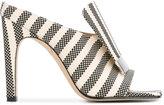 Sergio Rossi sr1 open toe mules - women - Cotton/Leather - 36