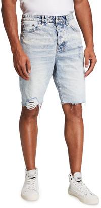 Ksubi Men's Wolf Distressed Cutoff Denim Shorts