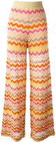 M Missoni zig-zag pattern trousers - women - Cotton/Polyamide/Polyester/Metallic Fibre - 40