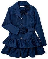 Biscotti Girls 7-16) Ruffle Skirt Trench Coat