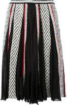 Oscar de la Renta pleated midi skirt - women - Silk/Cotton/Polyamide/Viscose - S