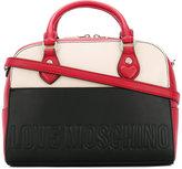 Love Moschino colourblock grab bag - women - Polyurethane - One Size