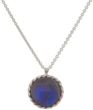 Harry Rocks Luck Charm Long Layering Necklace Sterling Silver Labradorite