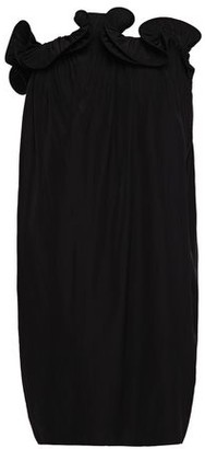 Lanvin Strapless Ruffle-trimmed Gathered Cady Dress