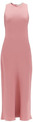 ASCENO The Valencia Silk-twill Midi Dress - Dusty Pink