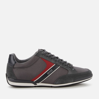HUGO BOSS Men's Saturn Low Profile Trainers - Dark Grey