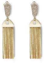 Vince Camuto Goldtone Pavé Tassel Clip Earrings