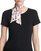 Kate Spade Tossed Roses Skinny Silk Scarf