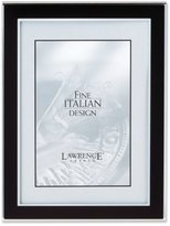Lawrence Frames Silver and Black 5 by 7 Metal Picture Frame