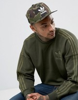 Adidas Originals Snapback Cap In Camo Bk7497