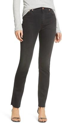 AG Jeans Mari High Waist Raw Hem Ankle Skinny Jeans