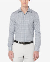Perry Ellis Men's Slim Fit Multi Color Checked Long-Sleeve Shirt