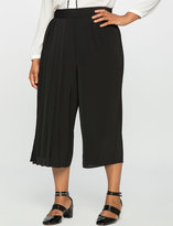 ELOQUII Plus Size Studio Cropped Pleated Pant
