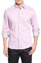 Stone Rose Men's Technical Stripe Sport Shirt