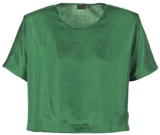 G Star COLLYDE WOVEN TEE women's Blouse in Green
