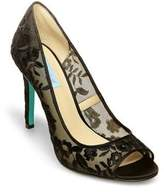 Betsey Johnson Blue by Riddle Peep Toe Pumps