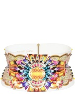 Manish Arora Beaded Faux Leather High Waist Belt
