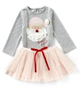 Mud Pie Baby Girls 12-18 Months Christmas Santa s Favorite Long-Sleeve Tee & Mesh Tutu Skirt Set
