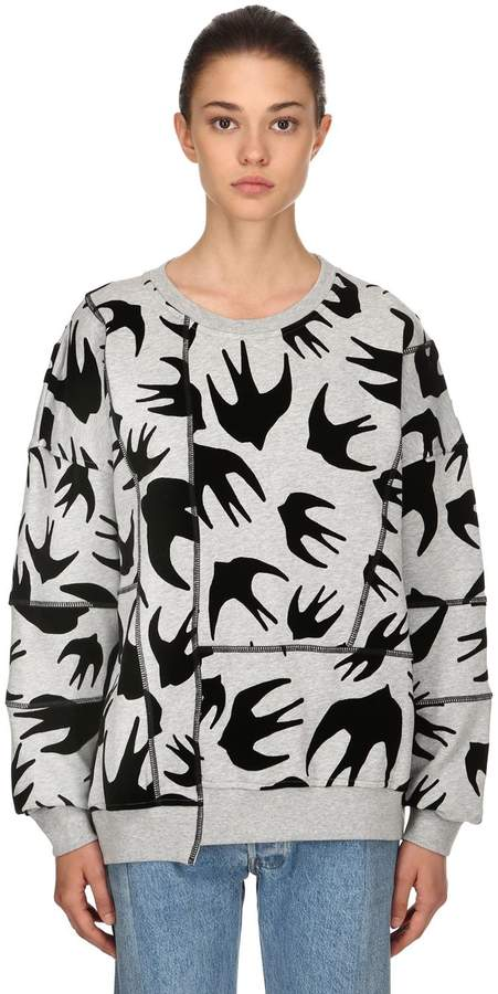 McQ Over Swallows Patchwork Sweatshirt