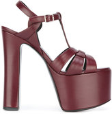 Saint Laurent platform sandals - women - Leather/Calf Suede - 35