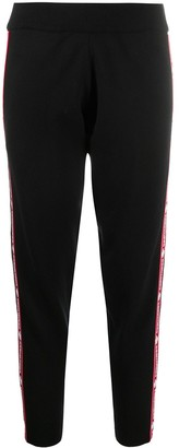 DSQUARED2 Applique Stripe Jersey Track Pants