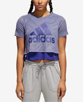adidas Id Layered Cropped T-Shirt