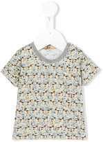 Gold Belgium dog print T-shirt