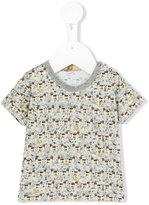 Gold dog print T-shirt