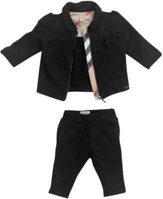 Burberry Black Cotton Jackets & Coats