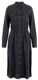 Pieces Nola Lyocell Shirt Dress Black - L