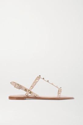Valentino Garavani Rockstud Leather Sandals - Neutral