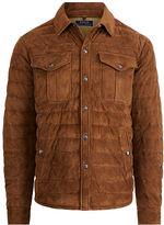 Polo Ralph Lauren Suede Down Shirt Jacket
