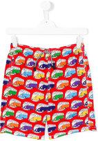 Mc2 Saint Barth Kids - van print swim shorts - kids - Polyamide/Polyester/Spandex/Elastane - 16 yrs