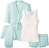Everly Grey Women's Maternity Daphne During and After 5-Piece Pajama Set