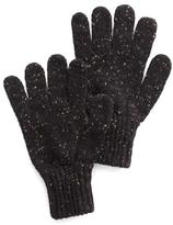 Drakes Drake's Donegal Wool Glove in Charcoal