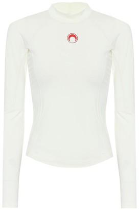 Marine Serre Logo stretch-jersey top